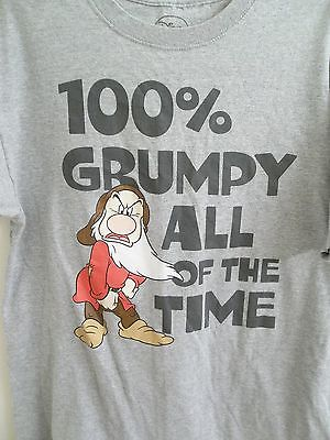 Disney's 100% Grumpy All The Time T-Shirt Adult L Large Size