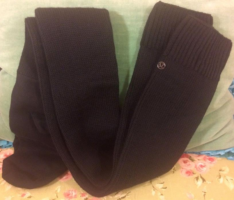 LULULEMON Legwarmer Sock Savasana Leg Warmers Socks Black Merino Wool