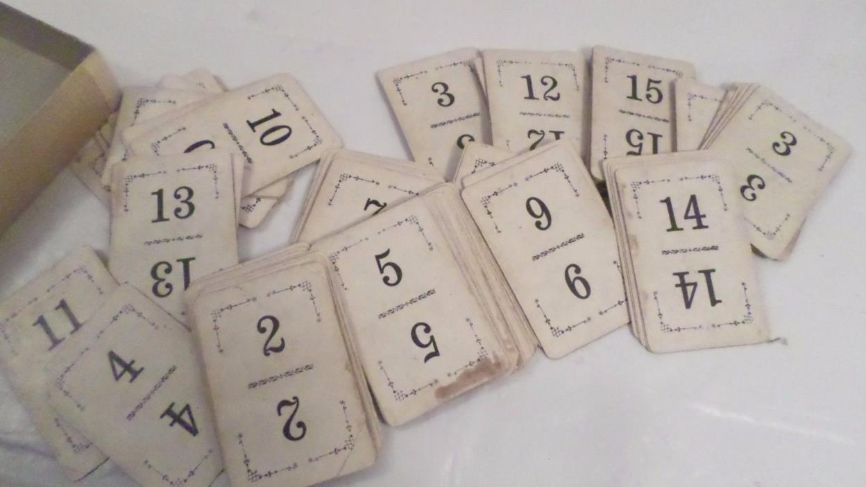 Vintage Card Game ~ Card numbers go up to 15