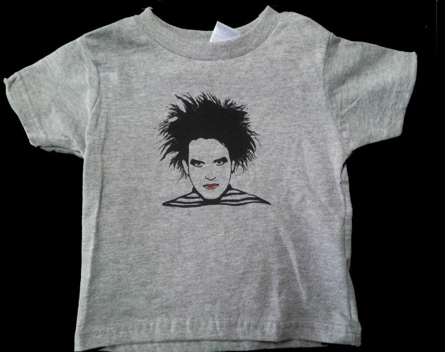 Robert Smith Cure T-shirt Goth 2T and 4T 100% cotton