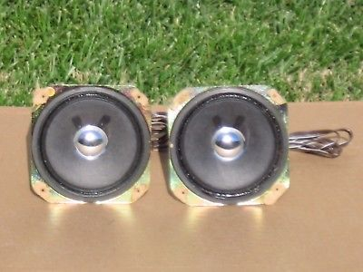 Pair Of 8 ohm  4 '' Full Range Speakers are  In Good Working Condition!