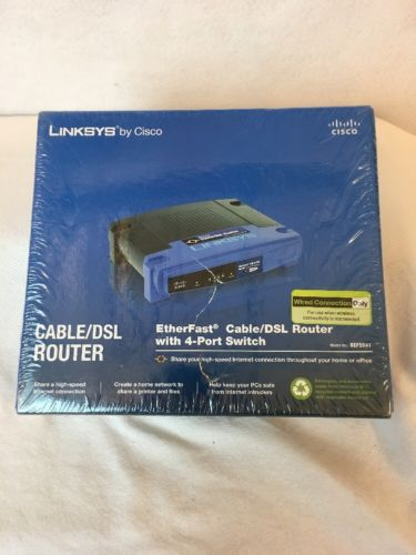 Linksys BEFSR41 4-Port 10/100 Wired Router (BEFSR41 v4) NEW - F10