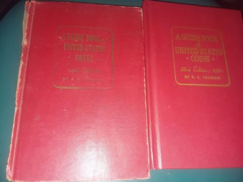 A Guide Book of United States Coins 14th & 33rd Edition 1961 & 1980 Yeoman Red