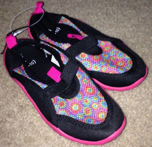 Brand New Circo Child Size Large 9-10 Water Shoes Aqua Shoe Pink Black