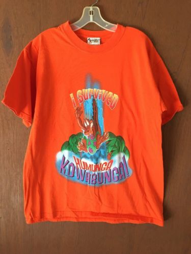 Walt Disney World HUMUNGA KOWABUNGA Vintage T Shirt Adult L 2Side Typhoon Lagoon