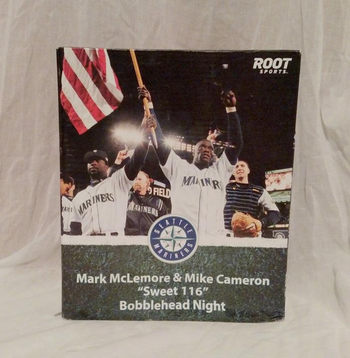 2011 SGA Mark McLemore & Mike Cameron Sweet 116 Wins Bobblehead Seattle Mariners