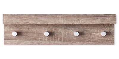 Argo Wall Mount Shelf with Hangers in Grayed Oak Finish [ID 3411286]