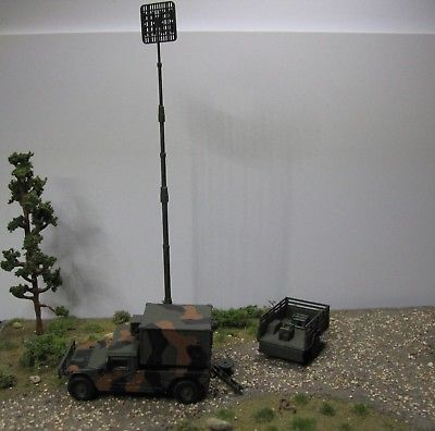 Custom Signal Corps System, M998 & Gen Set, Herpa / Roco Minitanks, HO Scale