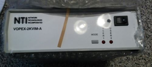 NTI NETWORK TECNOLOGIES INC VOPEX-2KVIM-A SWITCHING MODULE