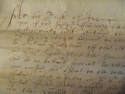 1683 Contract of Marriage: Sir William Wallace of Craigie and Eupham Fullarton