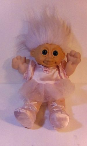 Troll Doll Dam Ballerina sitting plush Toy, Russ