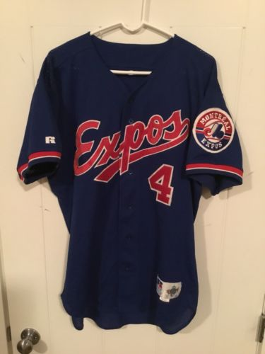 Montreal Expos Russell Authentic Diamond Collection Jersey Team Issue Size 46