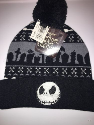 New Disney Nightmare Before Christmas Winter Hat JACK SKELLINGTON One Size