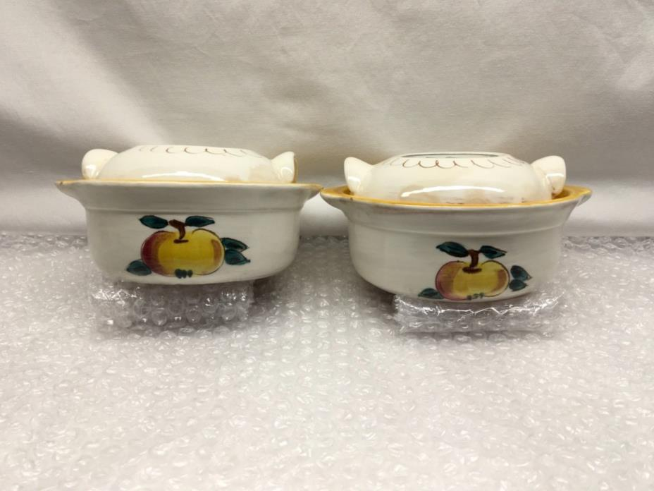 Stangl Fruit Vintage Covered Casserole Dishes Set of 2