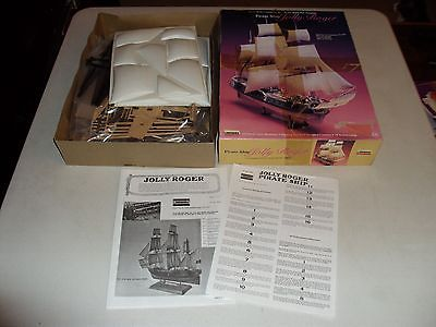 LINDBERG JOLLY ROGER PIRATE SHIP 16 INCHES LONG
