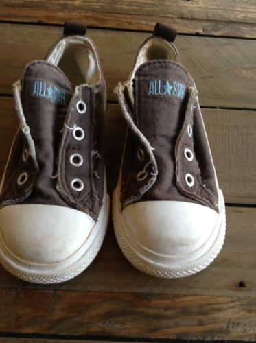Converse All Star Toddler Size 8 Brown Slip On Shoes