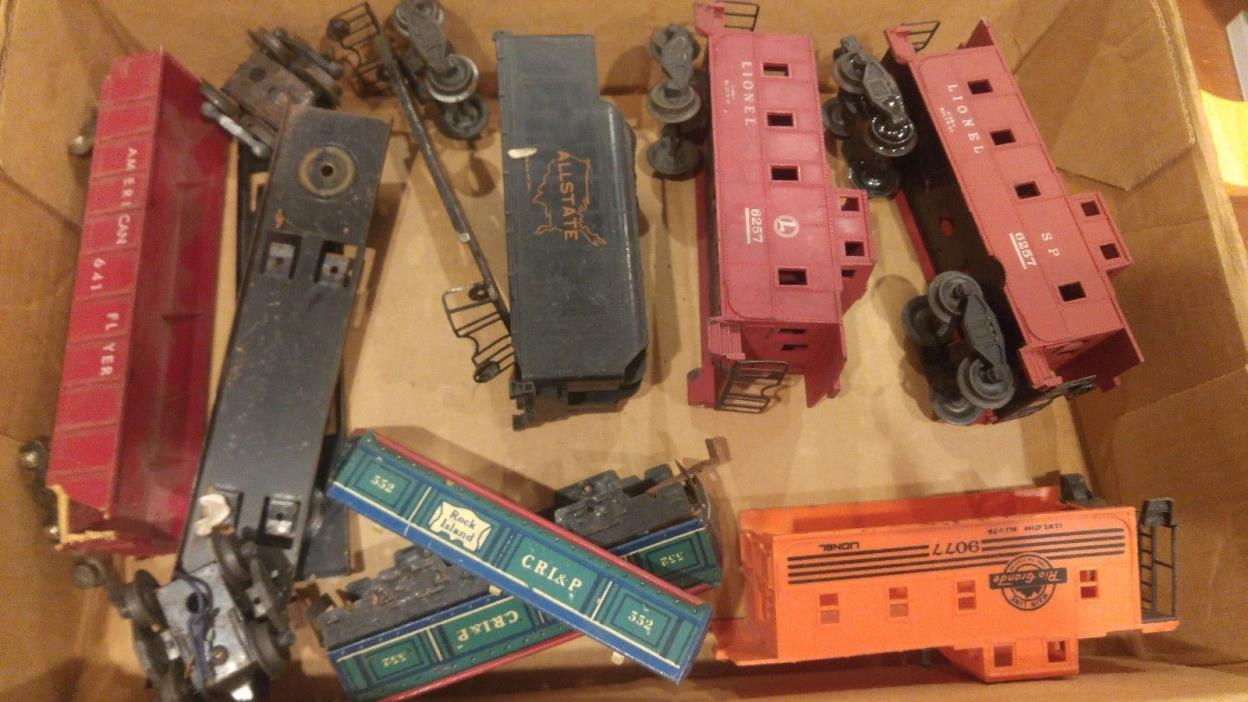 Vintage Lionel Parts Lot O scale 1 American flyer maybe Marx?