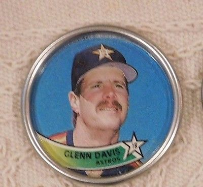Glen Davis Astros 1989 Topps Baseball Coin