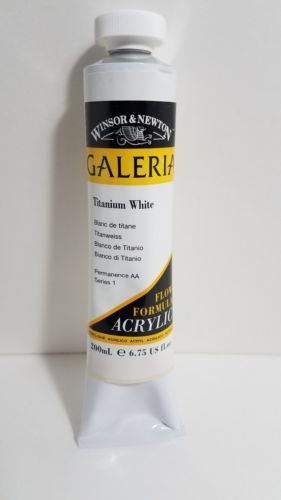 Winsor & Newton Galeria Acrylic Color Tube, 200ml, Titanium White