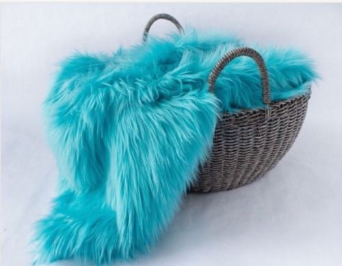 Faux Fur Turquoise Color Newborn posing, photo stuffer size 18