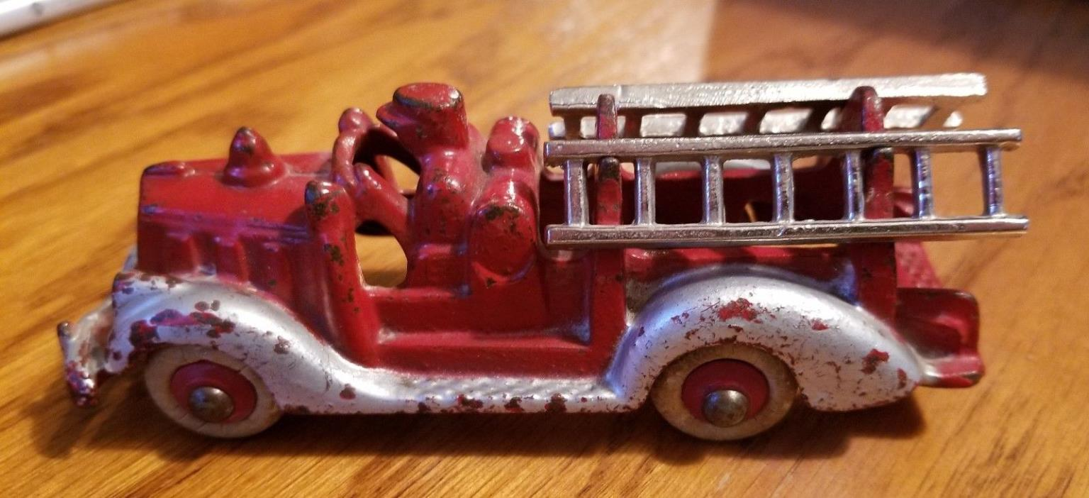 Antique Hubley Cast Iron Fire Truck #2231