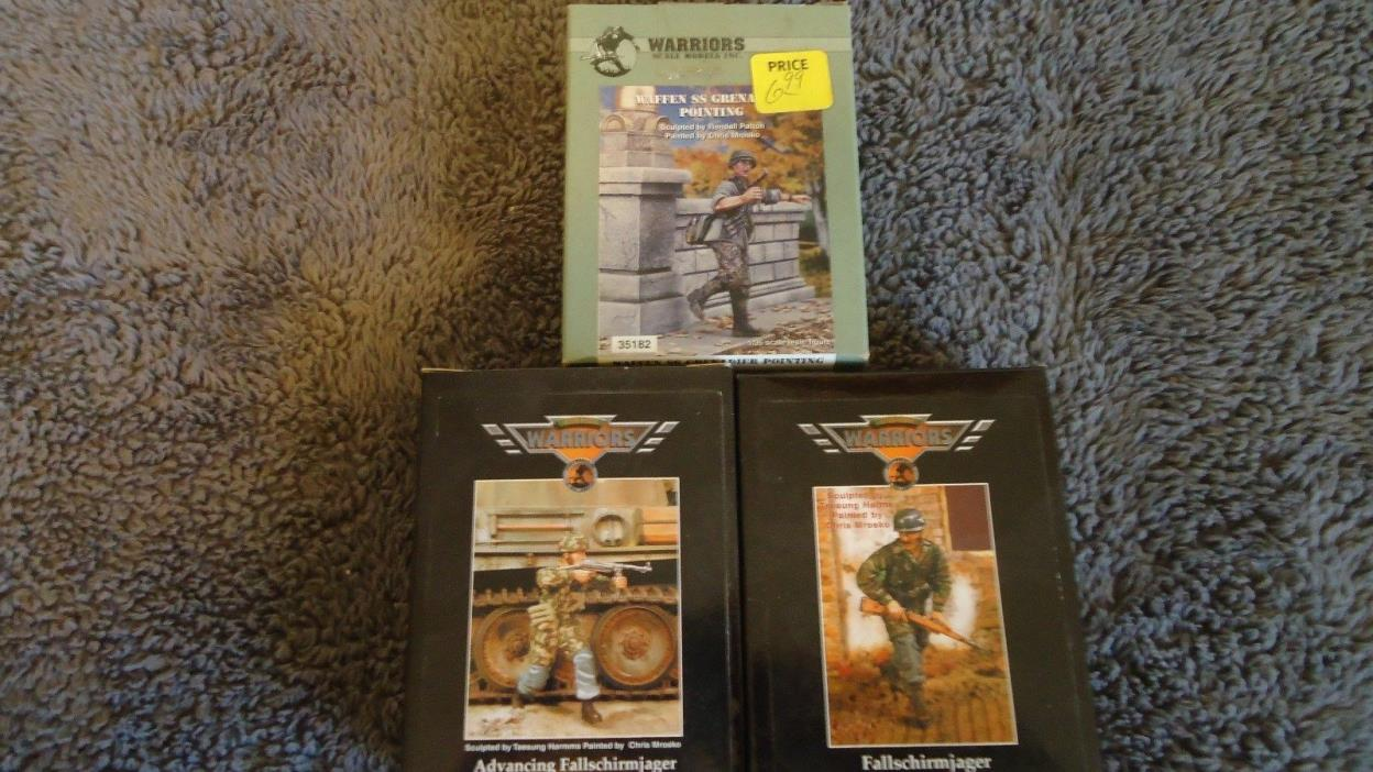 1/35 Warriors WWII German Lot: Fallschirmjager, Adv Fallschirmjager & Waffen SS