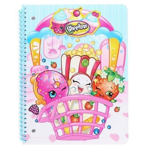 2- Pack Shopkins One Subject Notebooks, cover styles vary