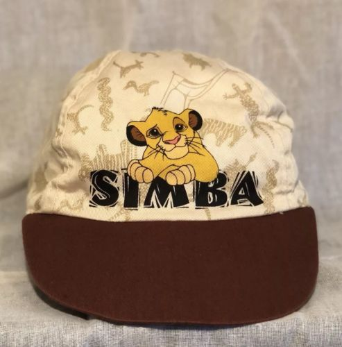 Vintage Disney Hat - Reversible Lion King Disney Simba Cap - young to old simba