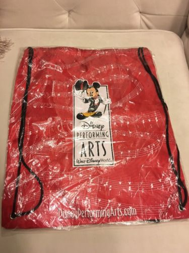 Disney Drawstring Backpack - Performing Arts - Mickey Mouse NEW In Package