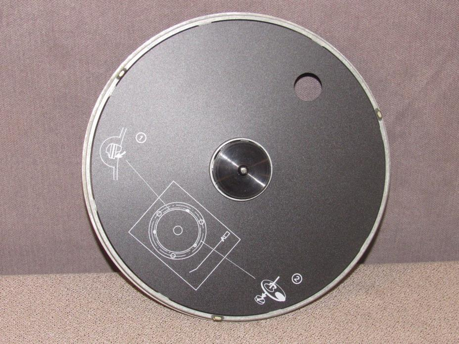 Bang & Olufsen Beogram RX 2 Turntable Aluminum Platter Base with 45 Adapter