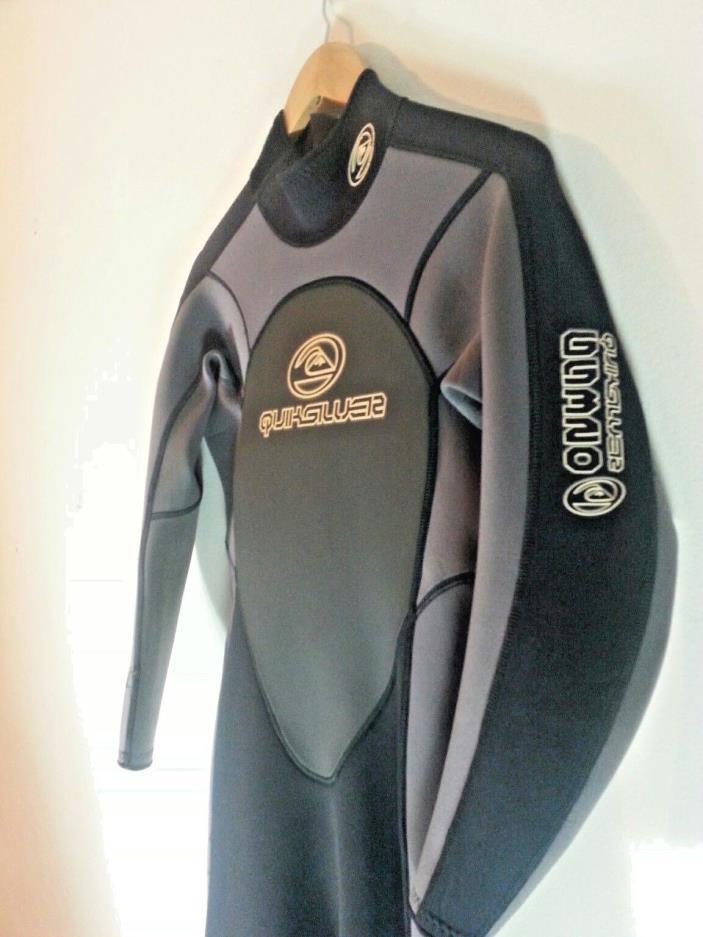 Quiksilver GS320 3.2mm Wetsuit. Men's Medium Black Grey Full Body Surf Dive NICE