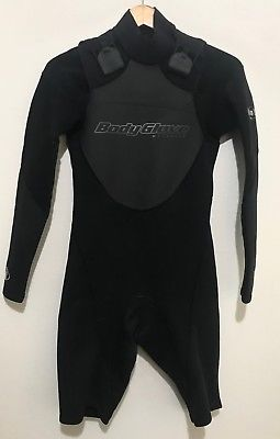 Body Glove Mens Spring Shorty Wetsuit Size SM No Zip Long Sleeve Small Medium
