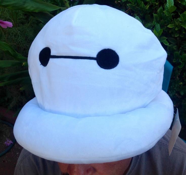 NWT DISNEY BIG HERO 6 BAYMAX ROBOT PUFFY PLUSH COSTUME HAT CAP ADULT OR CHILD