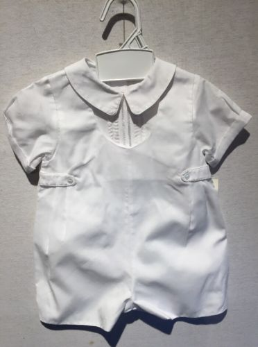 Perit Ami Boys White Baptism Christening Outfit 9 M