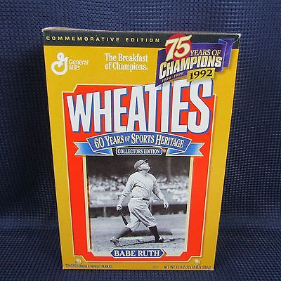 Wheaties MLB Babe Ruth 1999 Cereal Box