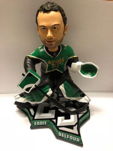"EDDIE BELFOUR Dallas Stars NHL EXCLUSIVE 9"" Bobblehead #/250 NIB"