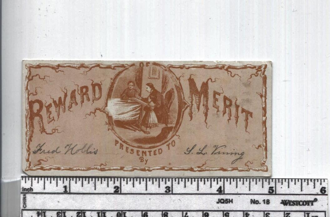 Antique Reward of Merit - Parlor Scene -