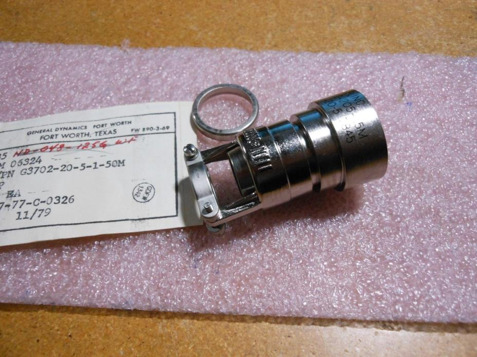 GLENAIR BACKSHELL / CLAMP # G3702-205-1.5M  NSN: 5935-01-107-6749 # C9256-20-5