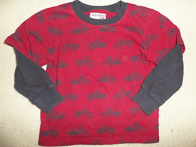 Baby Boy Old Navy Motorcycle Shirt Top-4T