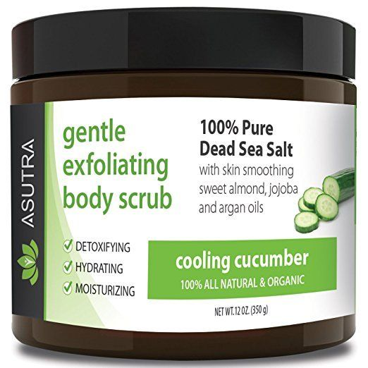 Best Organic Body Scrub Ultra Hydrating Moisturizing Pure Dead Sea Salt Smoother