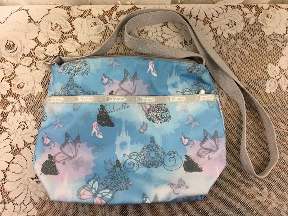 Disney Cinderella Patterned Adjustable Strap Lesportsac GUC!
