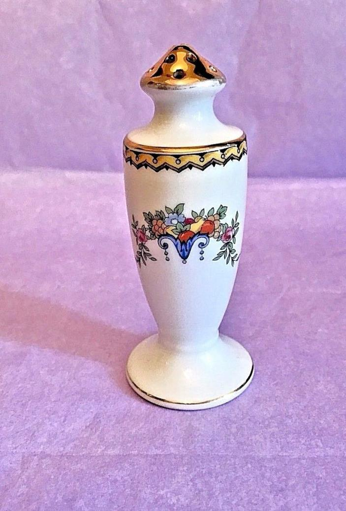 NORITAKE - Red Stamp - Salt / Pepper Shaker - Fruit & Flowers - CIRCA: 1910