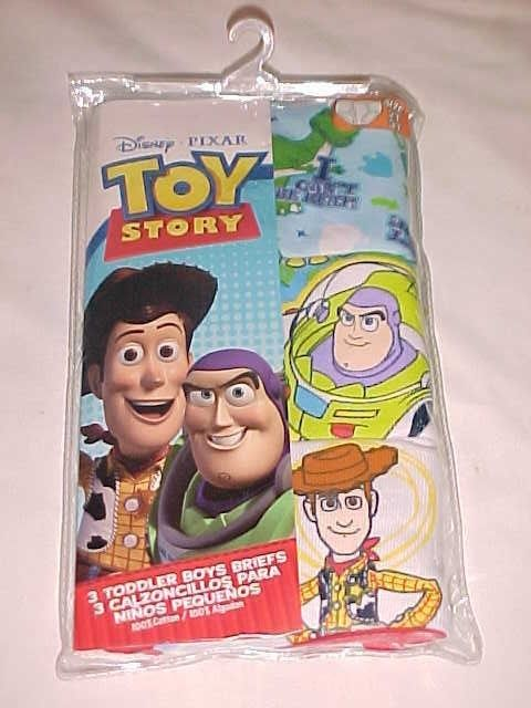 Disney Toy Story 3 pairs NEW Toddler Boys' Briefs-Size 2T/3T