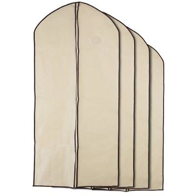 Home Zone - Breathable Garment Bag Clothes Covers Coffee & Cream Finish Large By