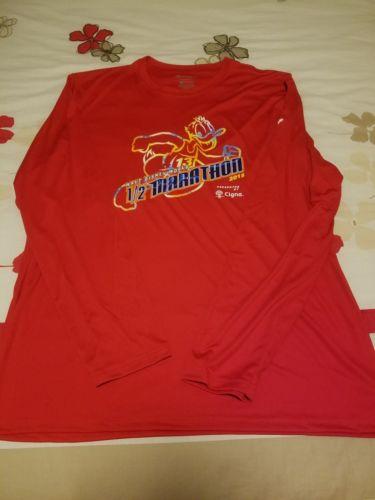 Run Disney WDW Half Marathon 2015 Race Tech Shirt Mens L