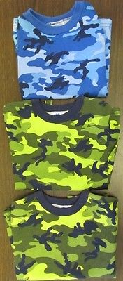 New Lot 3 Garanimal Green Blue Camo Kids T-shirt Toddler 3T