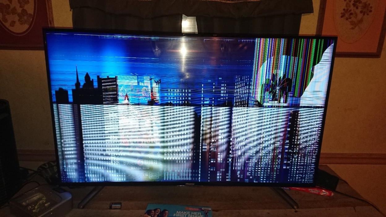 Hisense 50 tv (broken screen, no remote) NOT WORKING PARTS ONLY