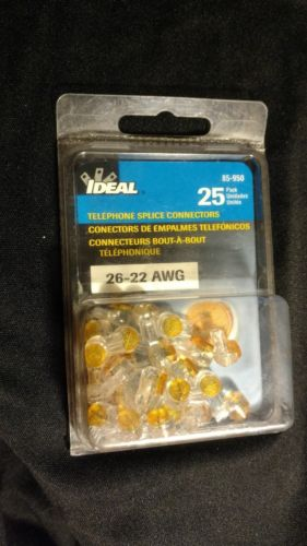 IDEAL Telephone Splice Connectors (25ct.) 85-950  26-22 AWGnew sealed
