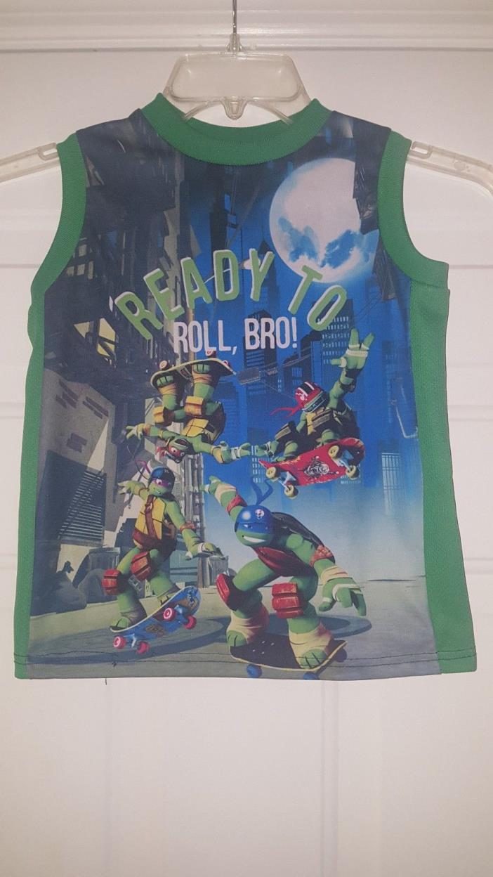 TEENAGE MUTANT NINJA TURTLES BOYS Size 7 SLEEVELESS SHIRT