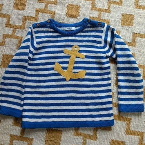 Baby Boden Mini Boden boys anchor sweater EUC